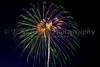 The 4th of July fireworks at Moorhead, Minnesota, USA.