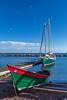 Sailboats at the marina in Grand Marais, Minnesota, USA.