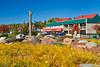 The lakeside park in Grand Marais, Minnesota, USA.