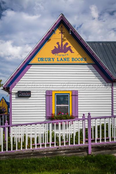 Shops and stores in Grand Marais, Minnesota, USA.