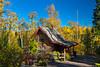 A small cottage and fall foliage color along the Gunflint Trail near Grand Marais, Minnesota, USA.
