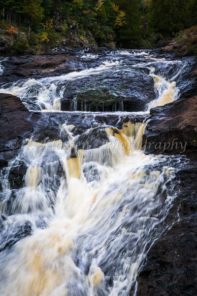 The Temperance River Falls along th north shore of Lake Superior, Minnesota, USA.