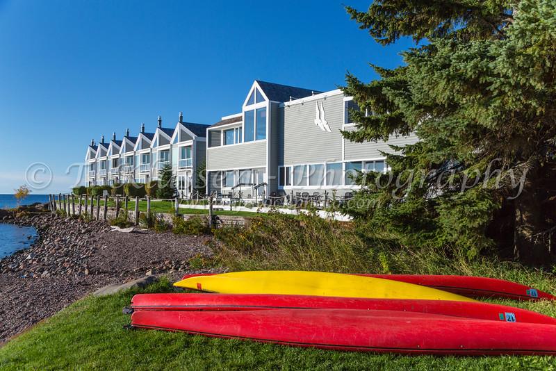The  Bluefin Bay Lake Superior resort near Tofte and Lutsen, Minnesota, USA.