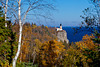 The Split Rock Lighthouse along the north shore of Lake Superior, Minnesota, USA.