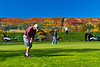 The golf course at the Lutsen Mountains Resort on the north shore of Lake Superior, Minnesota, USA.