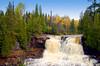 Upper Gooseberry Falls along the north shore of Lake Superior in Minnesota, USA.
