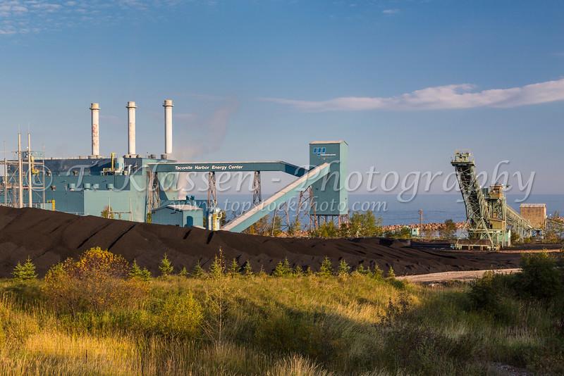 The Taconite Energy Center loading facility along the north shore of Lake Superior, Minnesota, USA.