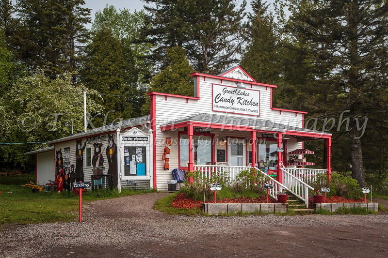 The Great Lakes Candy Kitchen store at Knife river, Minnesota, USA.