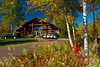The golf course clubhouse at the Lutsen Mountains Resort on the north shore of Lake Superior, Minnesota, USA.