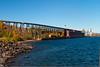 A ore loading facility along the north shore of Lake Superior, Minnesota, USA.