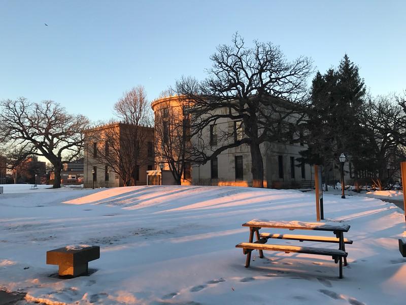 Winter light on UMN campus