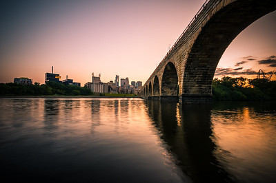 The Stone Arch Bridge at Dusk