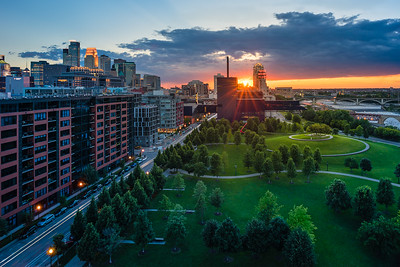 Golden Rays Over Minneapolis