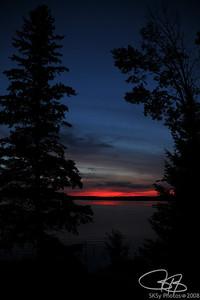 Lake Plantagenet scarlet sunset.  Aug. '08
