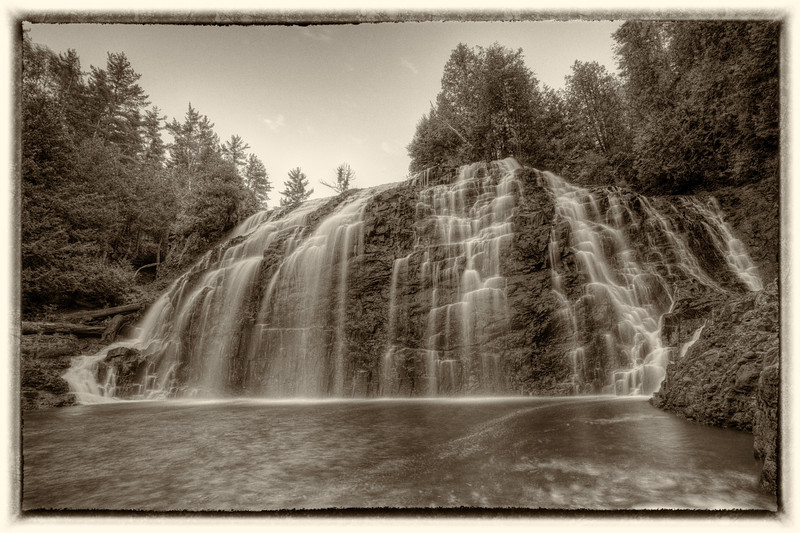 Partridge Falls (from the Canadian side) <br /> <br /> Grand Portage Indian Reservation <br /> Grand Portage, Minnesota <br /> (5DII-17097-17102)