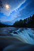 Middle Falls Moonlite<br /> <br /> <br /> Grand Portage State Park<br />  Grand Portage, Minnesota<br /> (5II-13724)