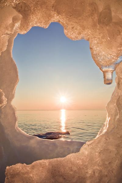 Sunrise Portal <br /> <br /> Red Rock Beach <br /> Grand Portage, Minnesota <br /> (5II-11787)