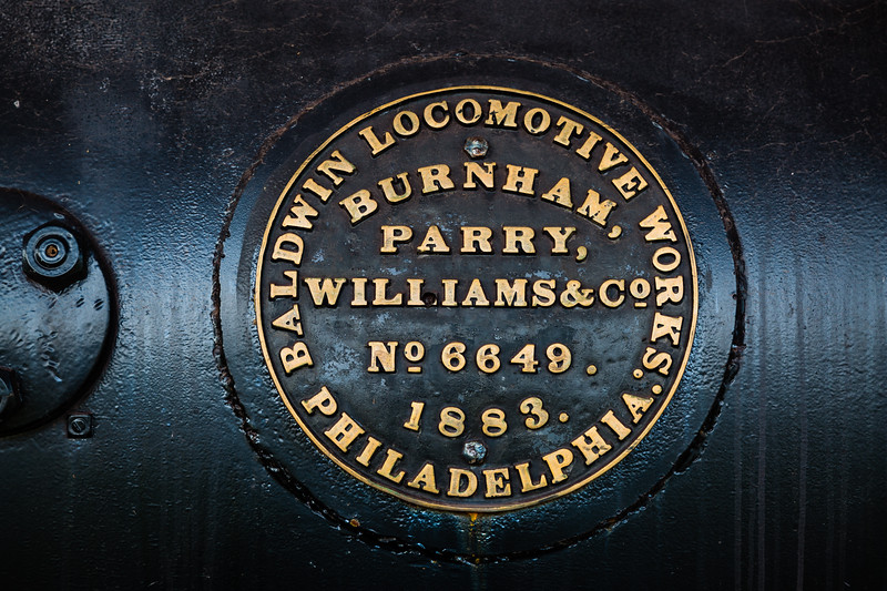 Baldwin Locomotive 6649 ID Plate