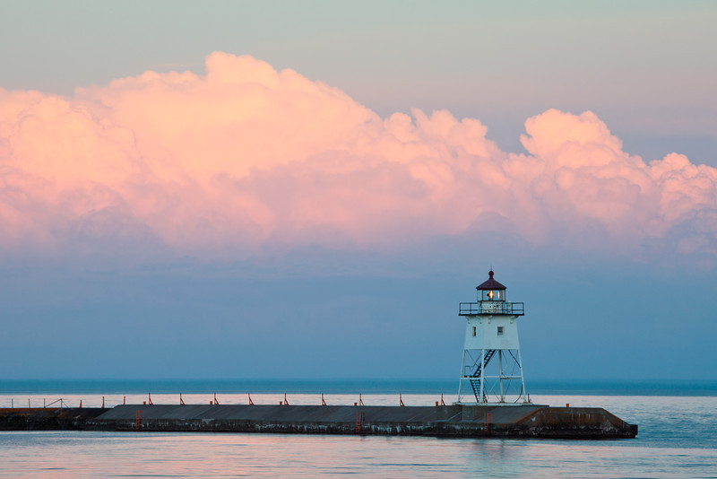 Evening Glow <br /> <br /> Grand marais Harbor <br /> Grand marais, Minnesota <br /> (5II-14881)