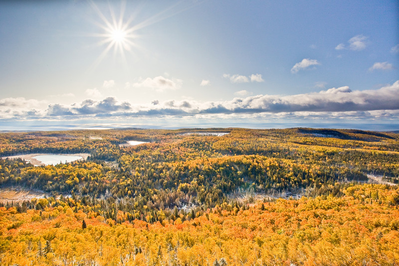 Sun Beam over Lake Superior<br /> <br /> Mt. Sophie<br /> Grand Portage, Minnesota<br /> (5II-06509)