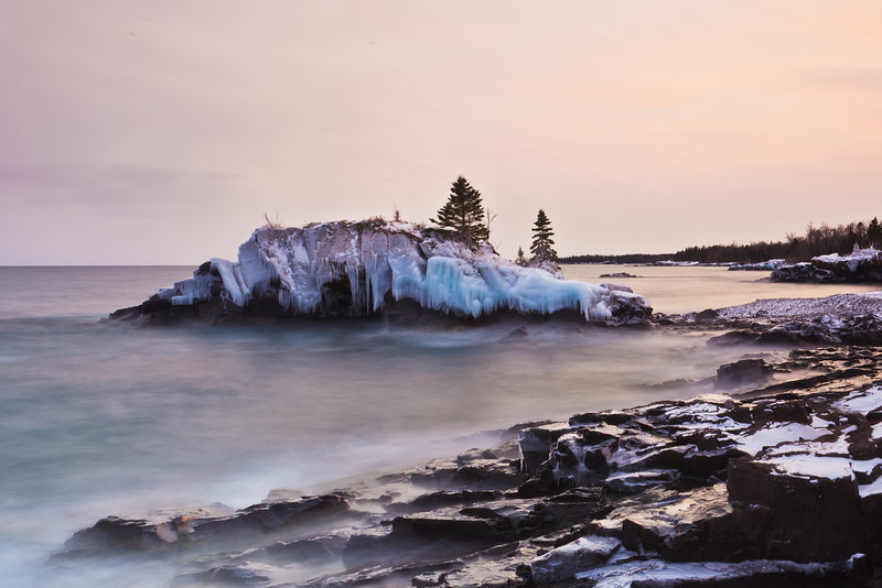 March Sunset at Hollow Rock <br /> <br /> Hollow Rock Resort <br /> Grand Portage Indian Reservation <br /> Grand Portage, Minnesota <br /> 5II2-12206)