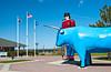 Paul Bunyan and his ox Blue in Bemidji, Minnesota, USA, America.