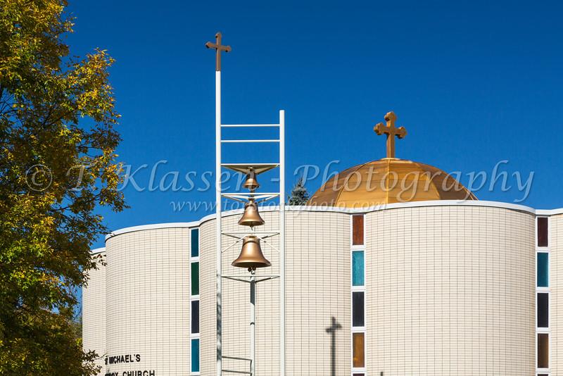 The St. Archangel Michael Serbian Orthodox Church in Hibbing, Minnesota, USA.