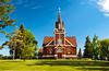 The Eksjo Lutheran E.L.C.A. Church in Lake Park, Minnesota, USA, America.