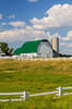 A dairy barn and pasture near Wadena, Minnesota, USA.