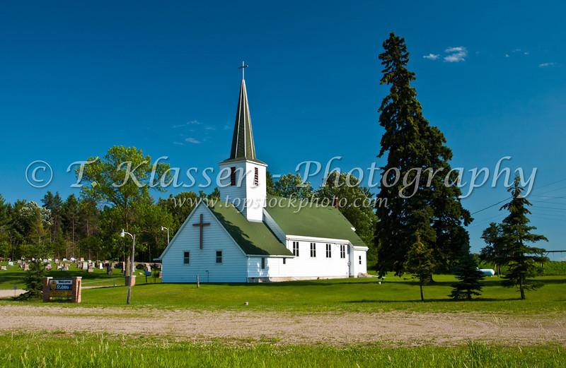 St. John's Church in rural northern Minnesota, USA, America.