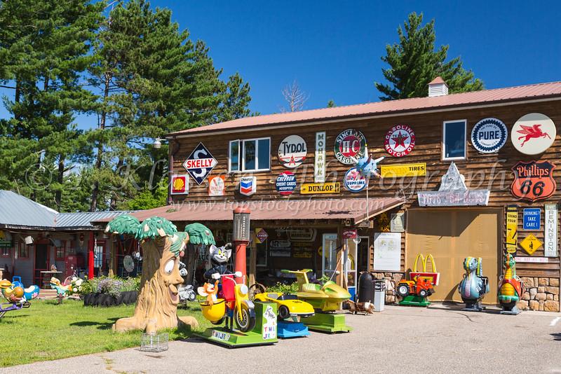 A large antique shop in Park Rapids, Minnesota, USA.