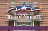 The Mall of America shopping mall sign in Minneapolis, Minnesota, USA, America.