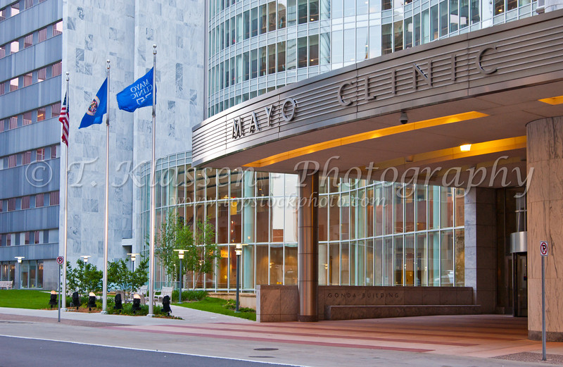 The Mayo Clinic building in Rochester, Minnesota, USA, America.
