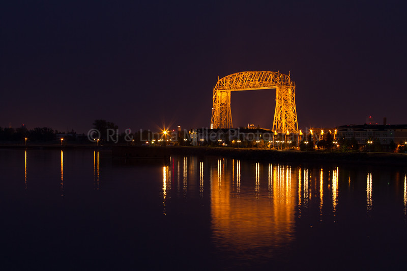 St. Louis, MN, Aerial Lift Bridge, Duluth, Night