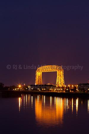 St. Louis, MN, Aerial Lift Bridge, Duluth, Night