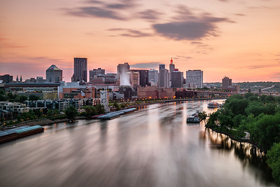 The Mighty Mississippi Flowing Through Saint Paul