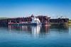 Iron ore docks and loading facility at Two Harbors, Minnesota, USA.