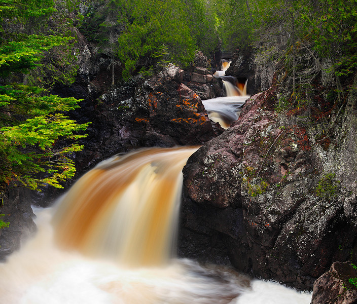 Stained Spring - The Cascades (Cascade River State Park - Minnesota)