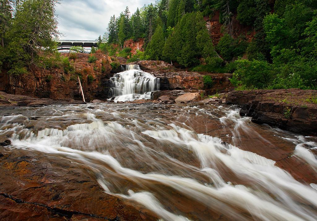 Hidden Bridge - Lower Gooseberry Falls (Gooseberry Falls State Park - Minnesota)