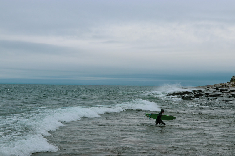 Surfing The Cold Water of Superior