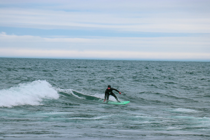 Carving a Turn On Lake Superior