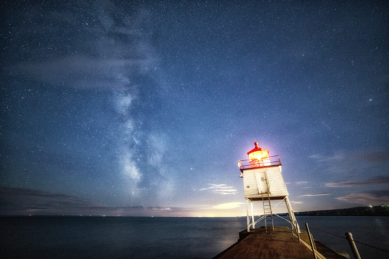 Milky Way Above the Breakwall