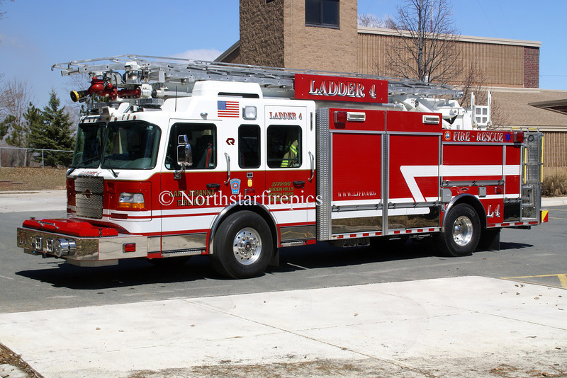 Lake Johanna L-4 <br /> 2007 Spartan Gladiator/Rosenbauer <br /> 1500/700/20/68' RM<br /> Rear pump panel and aerial controls