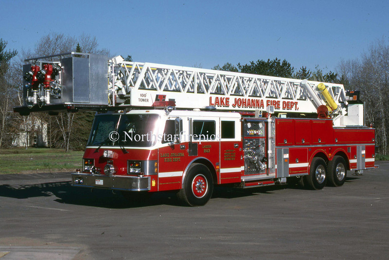 Lake Johanna L-843      1989 Simon Duplex  1500/200/100' Twr<br /> Refurb in 1996 new Cab