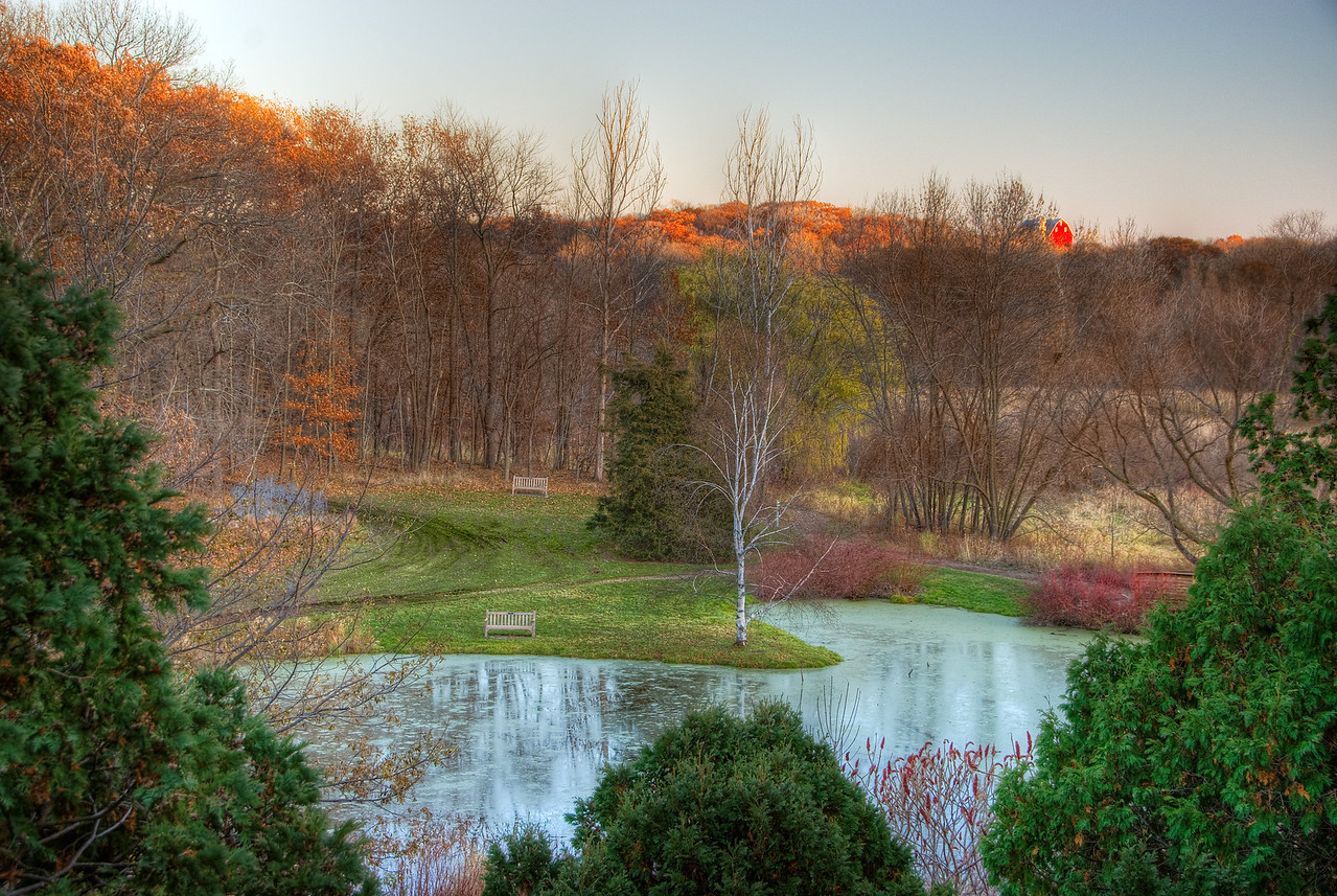 Red Barn Fall Sunset---Arb-2053