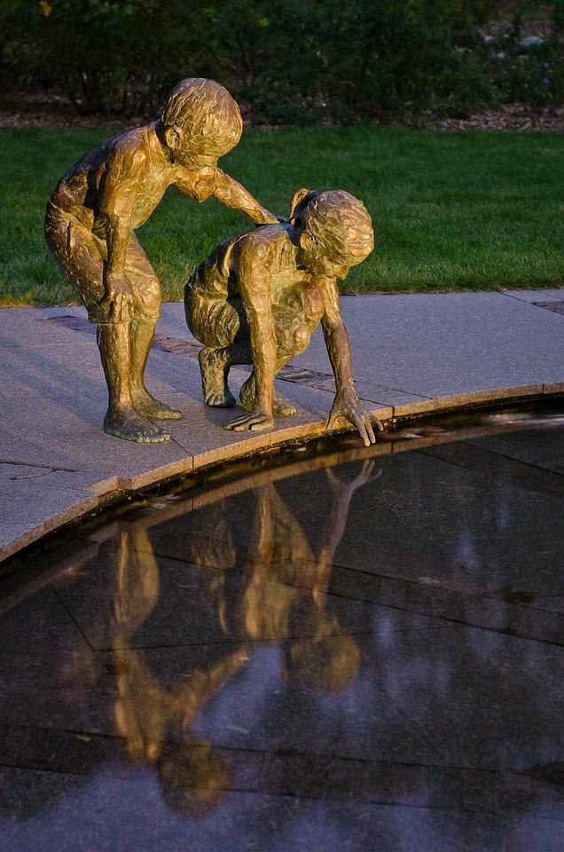 The Wonderment Sculpture at Dusk---Arb-2052