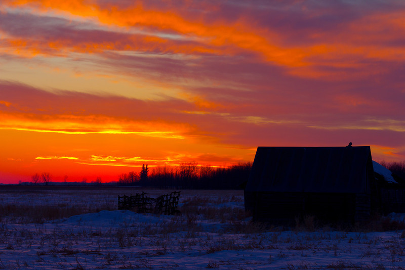 Sunset from Hwy 310, North of Roseau, MN
