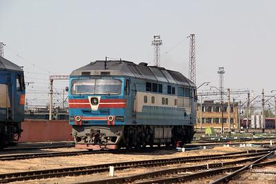TEP70 0164 at Kharkov Osnova Depot on 2nd May 2010