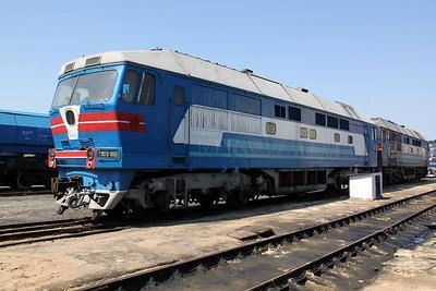 TEP70 0100 at Kharkov Osnova Depot on 2nd May 2010