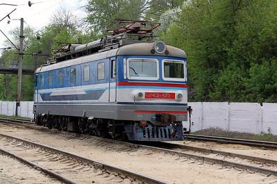 ChS2 573 at Kharkov October Depot on 2nd May 2010